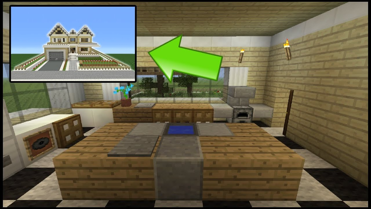 Minecraft Tutorial How To Make A Suburban House 8 Inside