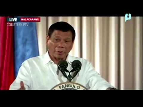 WATCH: President Rodrigo Duterte in Malacañang