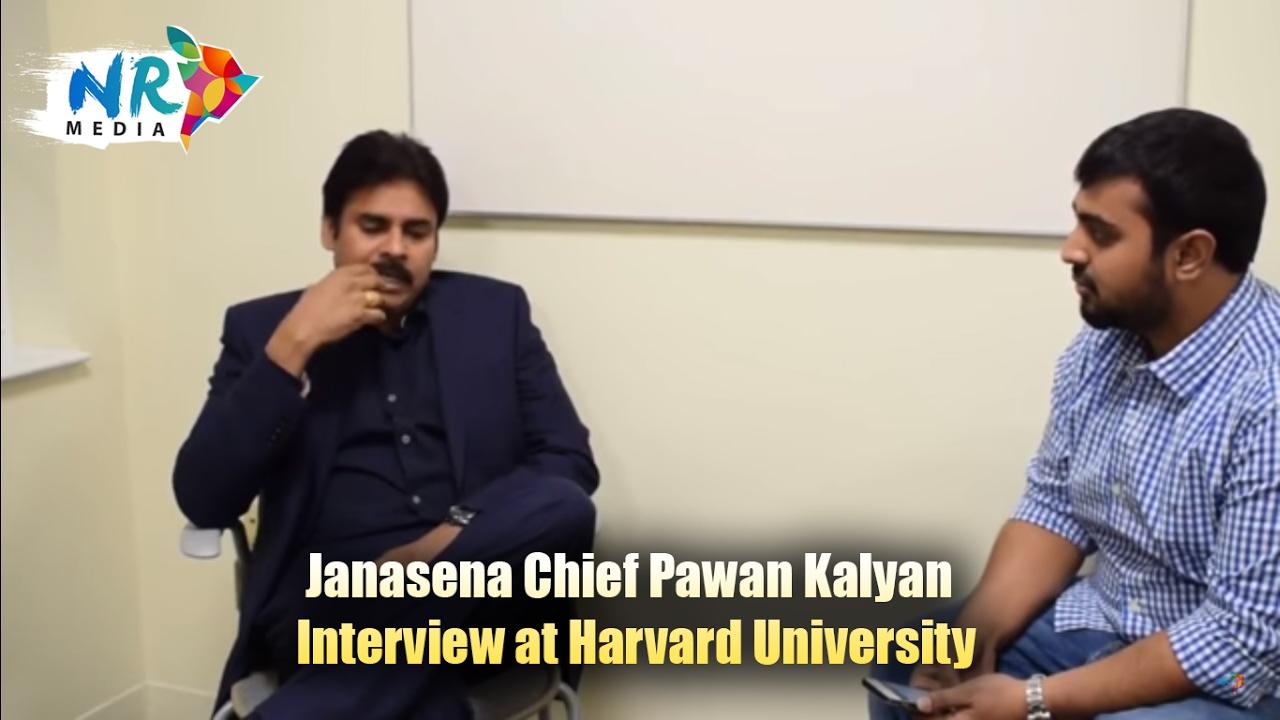 Janasena chief Pawan Kalyan interview at Harvard ...