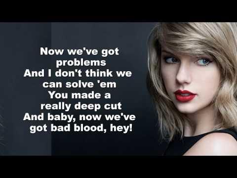 Taylor Swift -  Bad Blood (Lyrics/download)