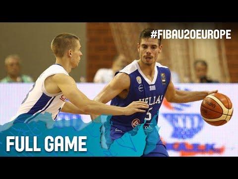 Czech Republic v Greece - Full Game - FIBA U20 European Championship 2017