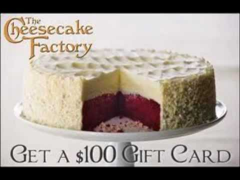 The Cheesecake Factory Menu 100 Coupon Gift Card YouTube