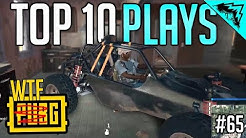 TOP 10 WTF MOMENTS & PLAYS - PlayerUnknown's Battlegrounds (Bonus Plays #65) PUBG