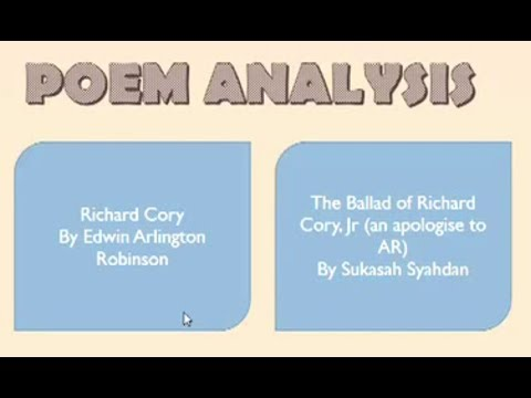 poem analysis richard cory and the ballad of richard cory jr poem analysis richard cory and the ballad of richard cory jr