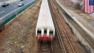 Boston train accident: driverless train blasts through several stations - TomoNews