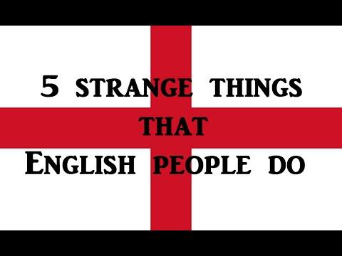 5 Strange things English people do. English lesson