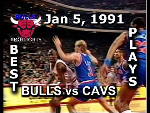 Jan 5, 1991 Bulls vs Cavs highlights