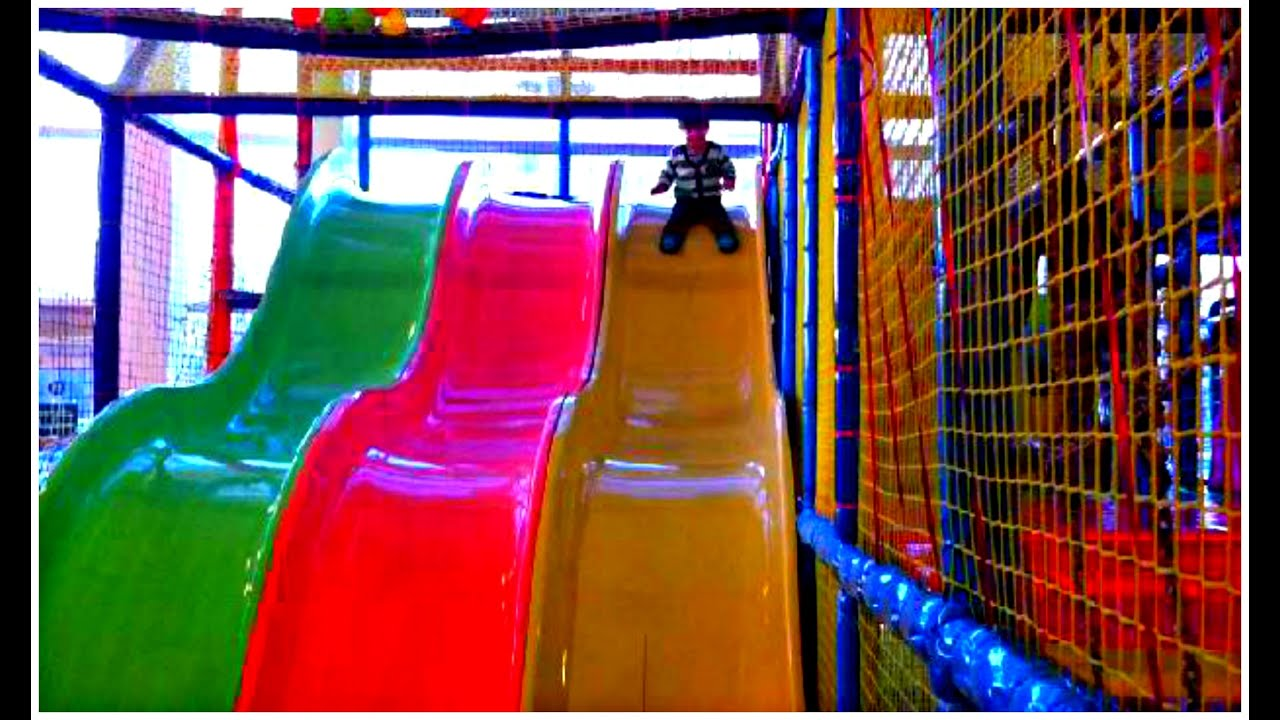 Indoor playground fun ball pit slides play place 2 for Indoor play slide