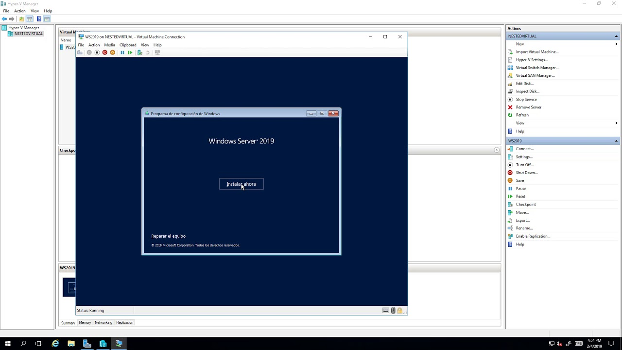 Instalar Windows Server 2019 en VM de Microsoft Azure con Nested  Virtualization