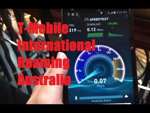T-Mobile International Roaming In Sydney, Australia! (Test Web, Data Unlimited)