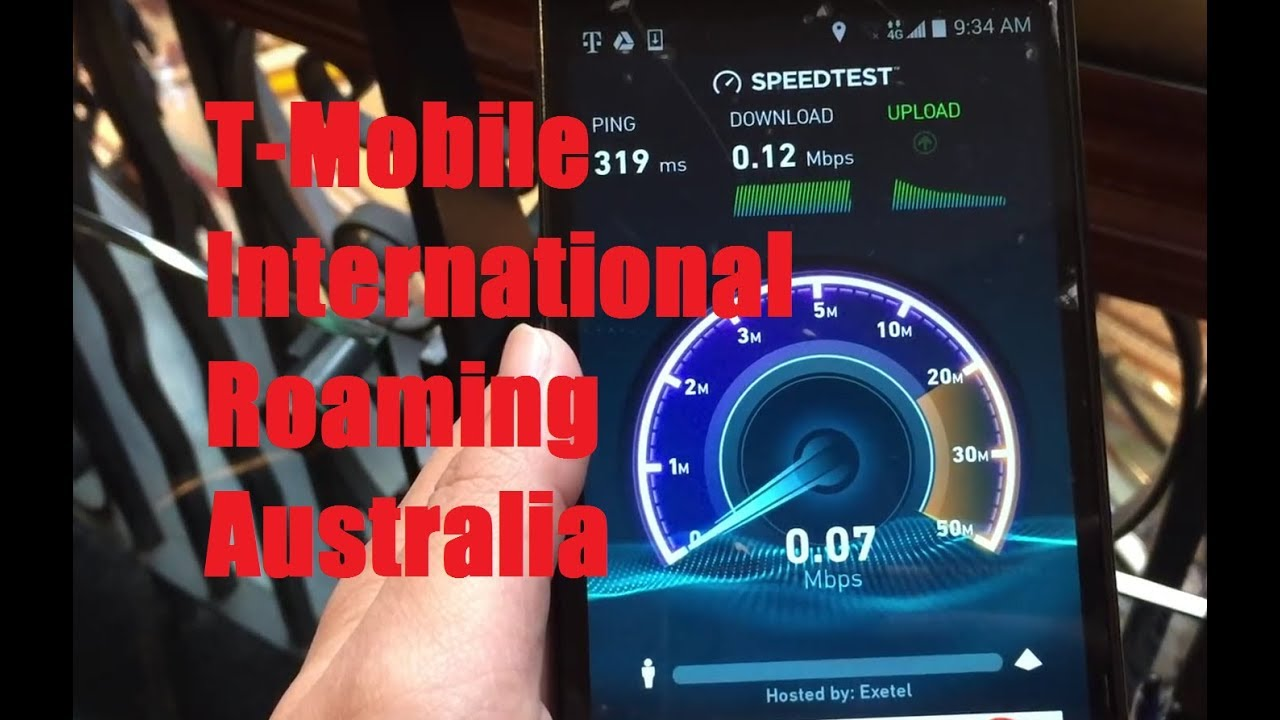 T Mobile International Roaming In Sydney Australia Test Web Data