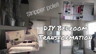 EXTREME! 😱 DIY BEDROOM TRANSFORMATION!!