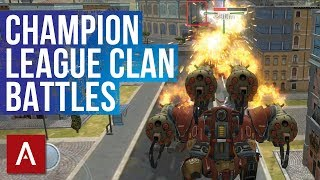 EPIC Clan Battles VØX vs CDXX | War Robots iOS Clan Battle Gameplay