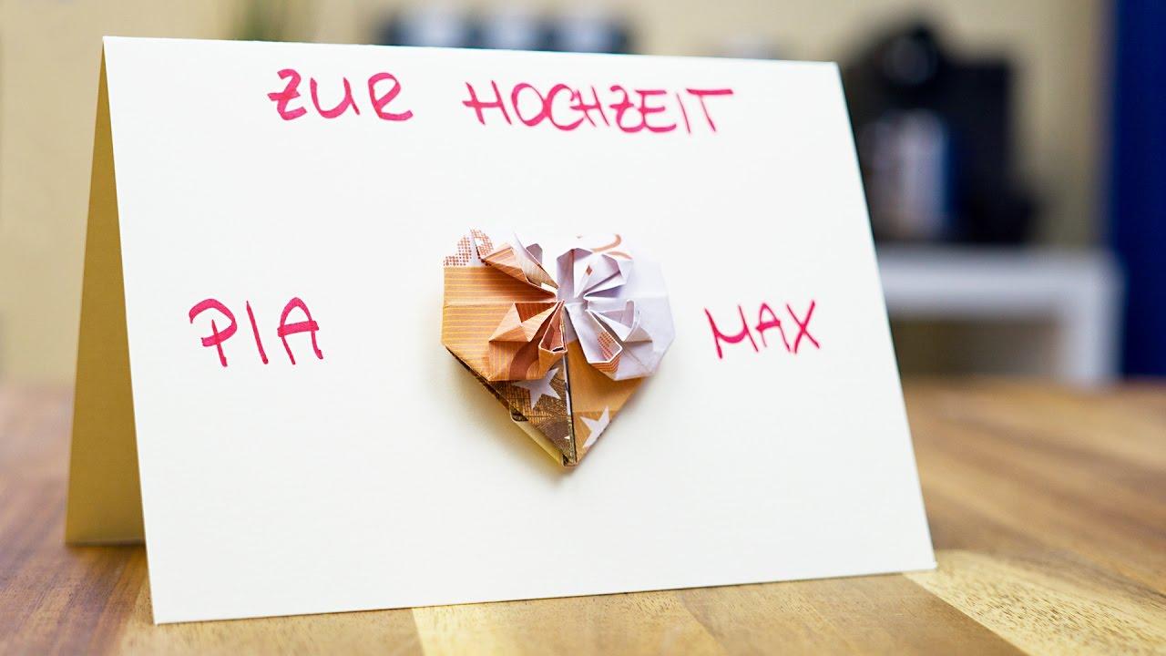 Hochzeitsgeschenke SELBER MACHEN HERZ Glckwunschkarte
