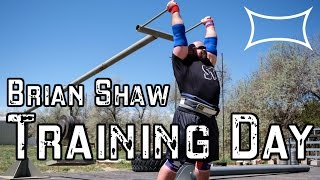 World's Strongest Man Brian Shaw —Training Day
