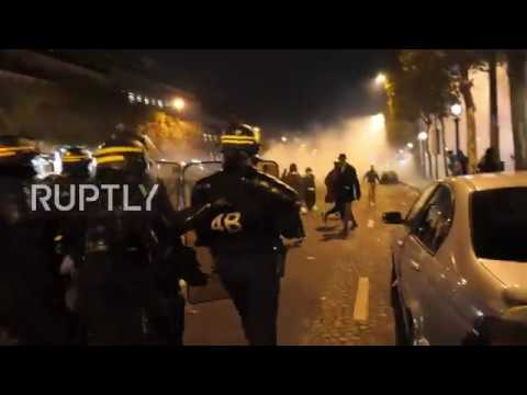 France: Police use tear gas following Libya slave auctions protest