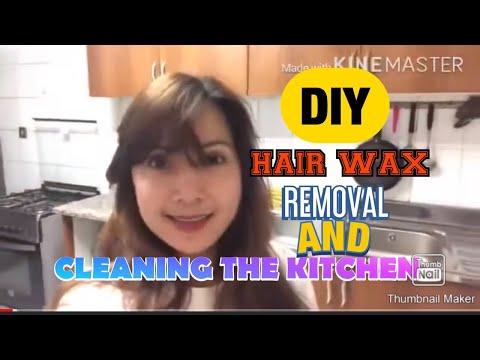 DIY hair wax removal,cleaning the kitchen, - YouTube