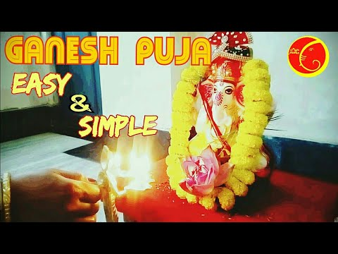 Ganesh Chaturthi  Puja Vidhi Easy And Simple  At Home 2019 Bengali  Procedures