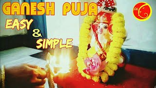 Ganesh chaturthi  puja vidhi easy and simple  at home 2018 Bengali  procedures