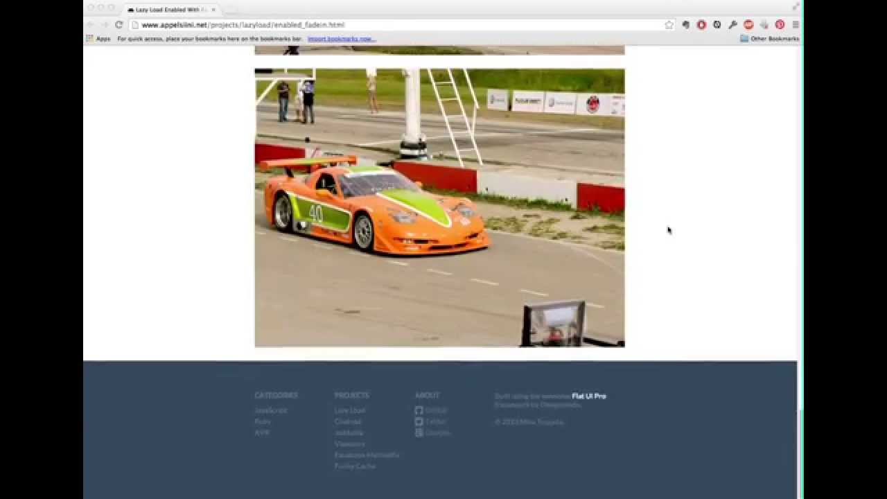Jquery lazy load video example youtube.