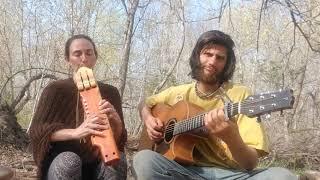 Soothing Springtime Song Falcon Flutes Triple Barrel Native Flute and Handmade Guitar Meditative