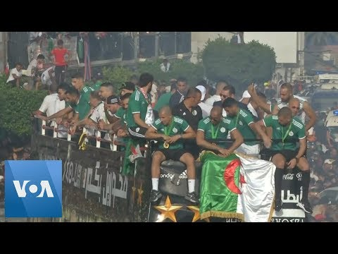 Algeria Crowds Celebrate AFCON Victory