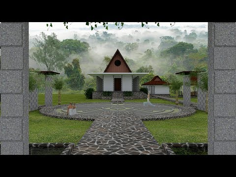 Meditation Retreat Inn Build With Google Sketchup + Vray 3.4