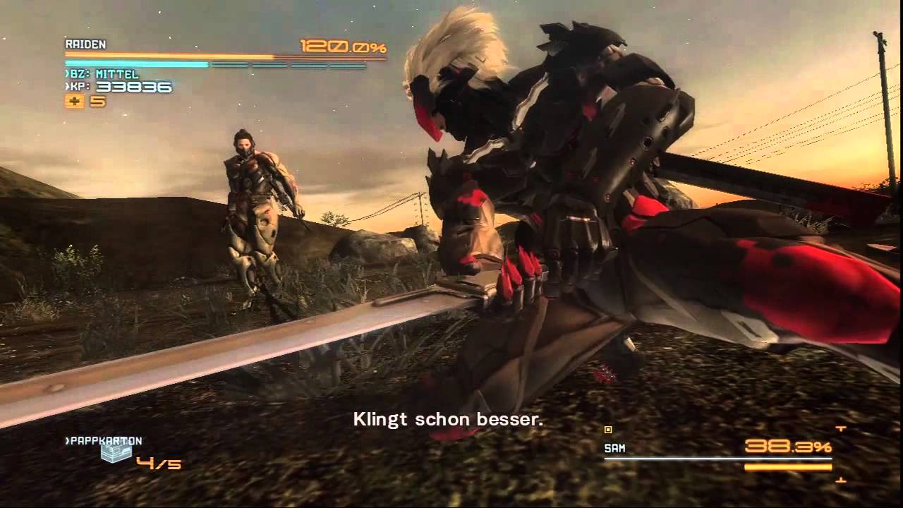 Metal Gear Rising Raiden Vs Sam Rodriguez Youtube