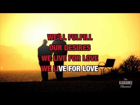 We Live For Love in the style of Pat Benatar | Karaoke with Lyrics