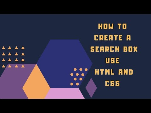 How To Create A Search Box Using Html And Css