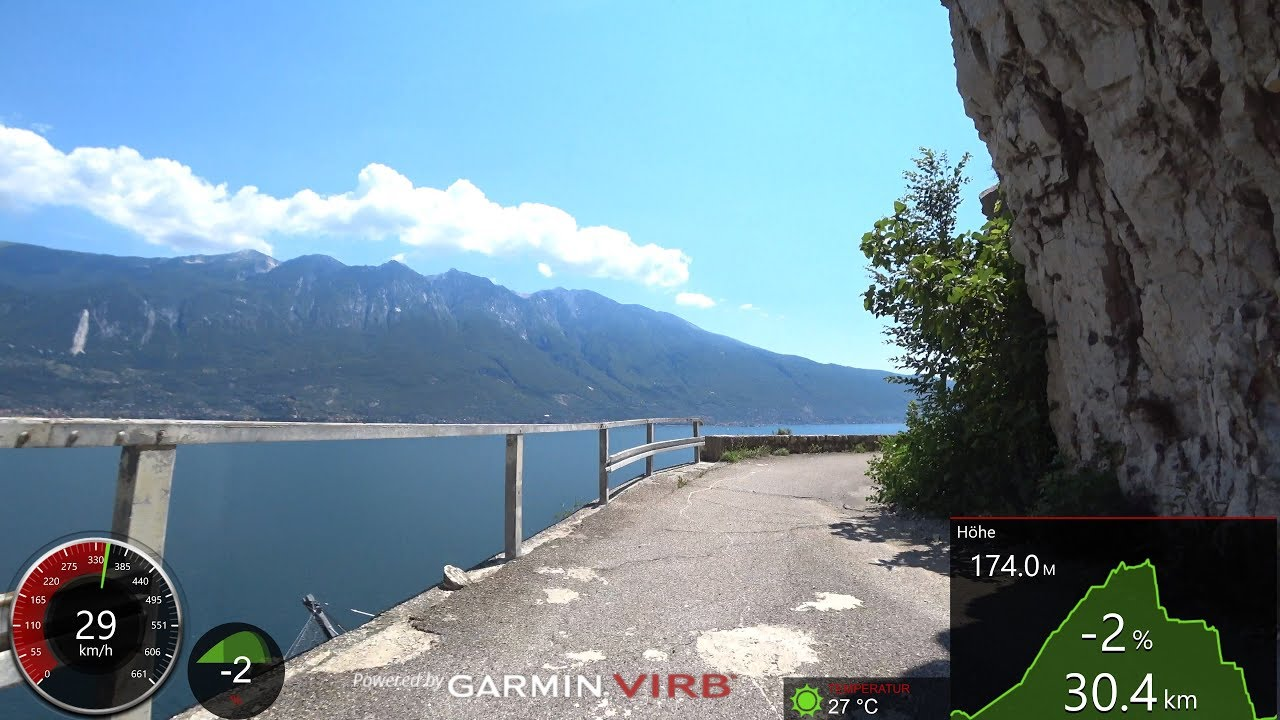 Best Cycling Workout Lake Garda Italy 4k Video Garmin Youtube
