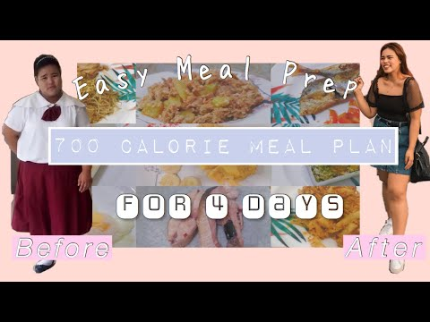 700 Calorie Meal Plan For 4 days   Weight Loss   Easy meal prep