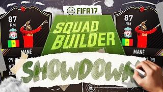99 pace 87 otw mane squad builder showdown fifa 17 ultimate team