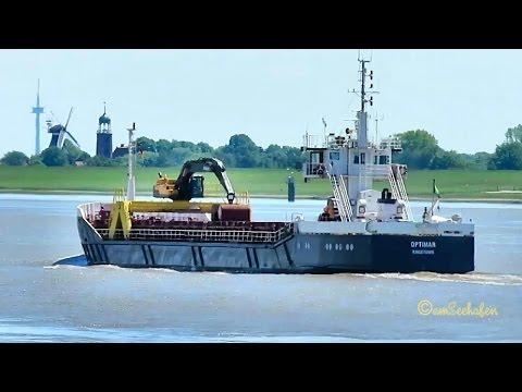 coaster OPTIMAR J8B3154 IMO 8300262 Emden cargo seaship merchant vessel KüMo Seeschiff