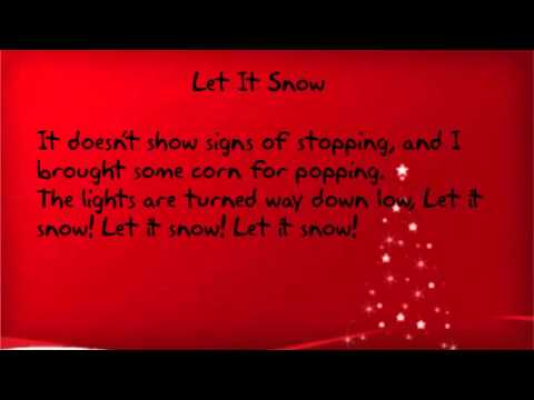 Let It Snow Words