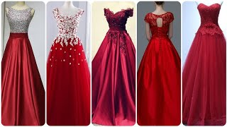 most stylish and gorgeous red maxi dress prom dress red party wear dress collection