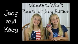 Minute to Win It ~ 4th of July Edition ~ Jacy and Kacy