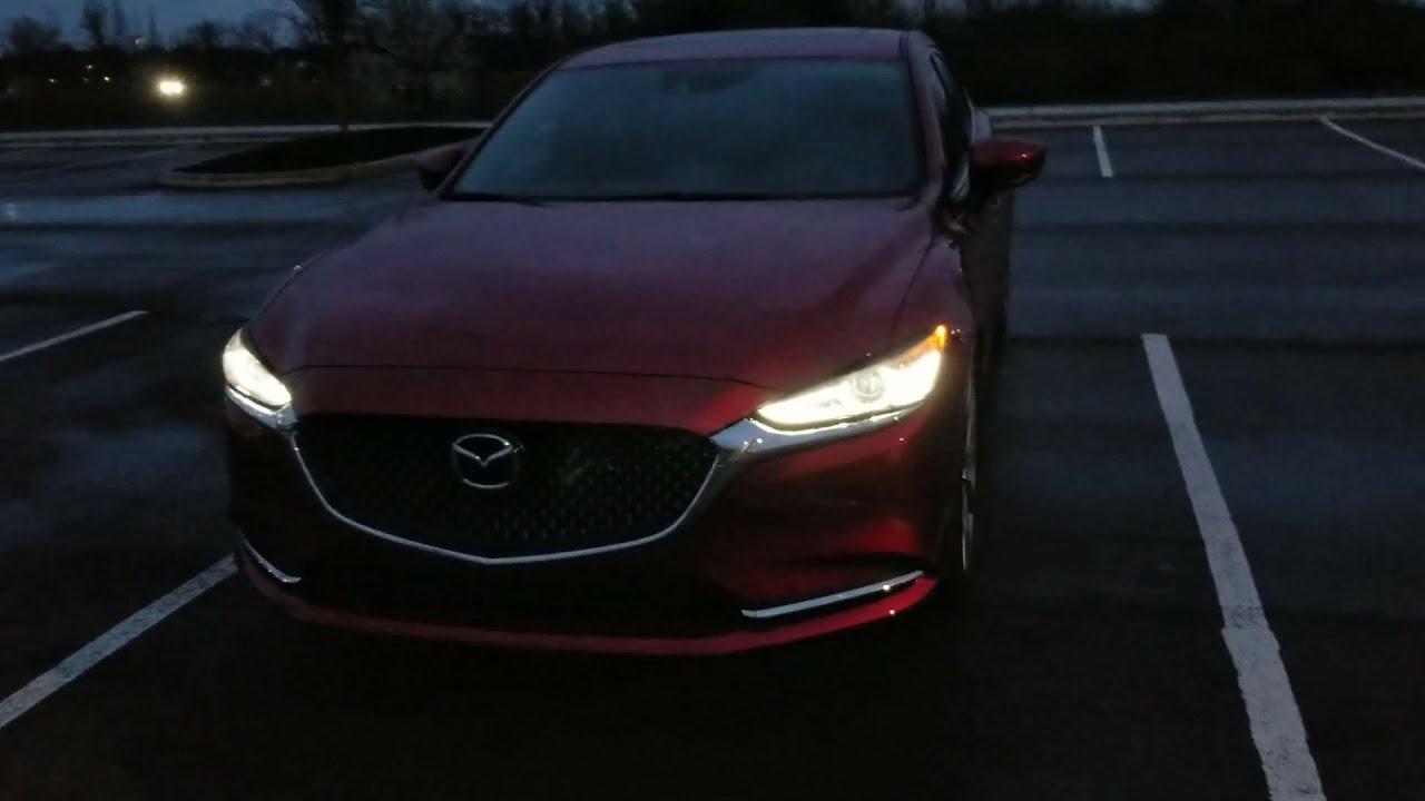2018 Mazda 6 Signature Night Time Lighting