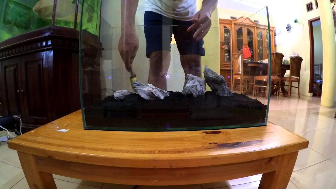 Setup Aquascape - step by step - YouTube