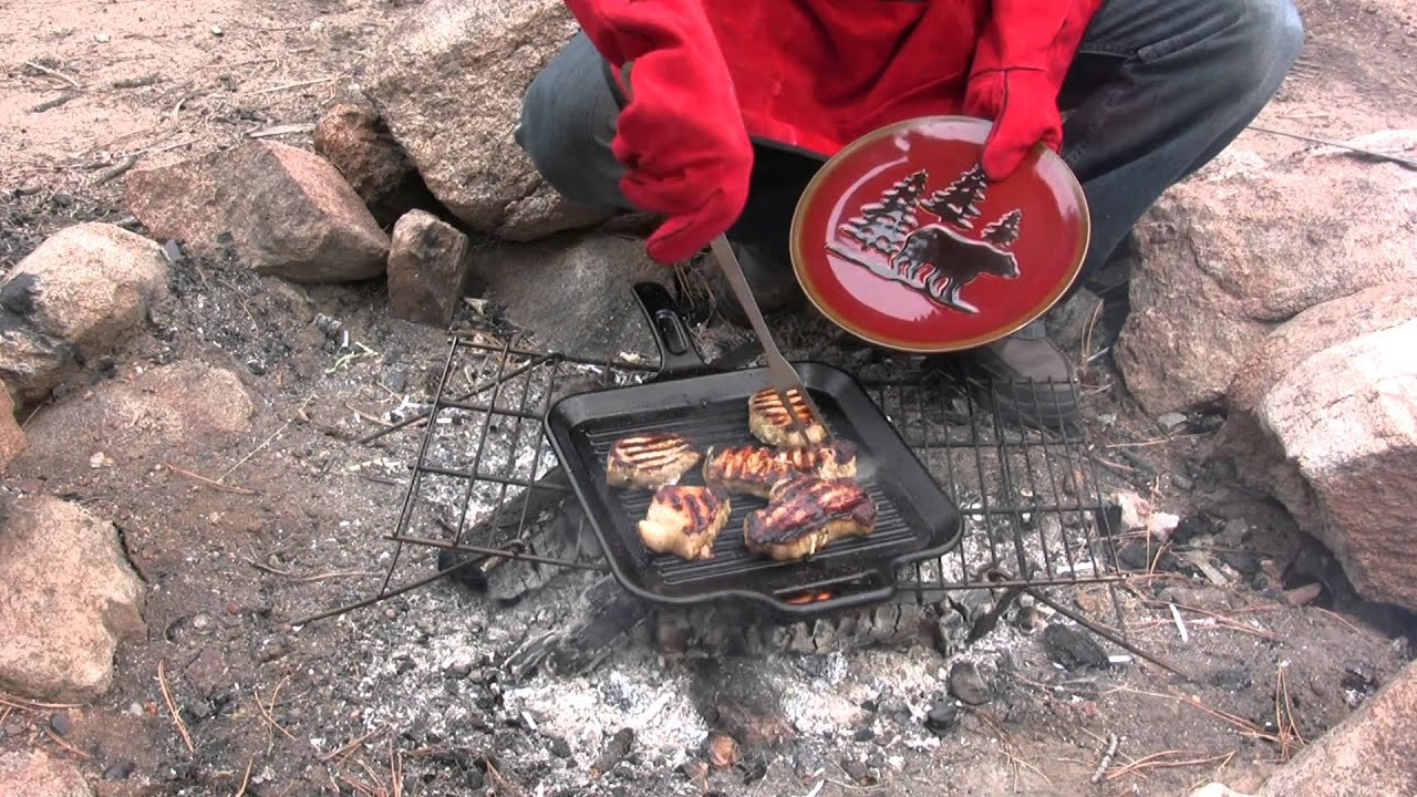 Frontier Pork Chops On A Colorado Campfire