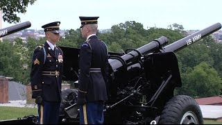 "ARLINGTON NATIONAL CEMETERY!  21 Gun Salute by ""The Old Guard"", Memorial Day 2013"