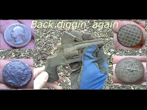 Metal detecting 1700's farm - silver, handgun, indian head, & more....