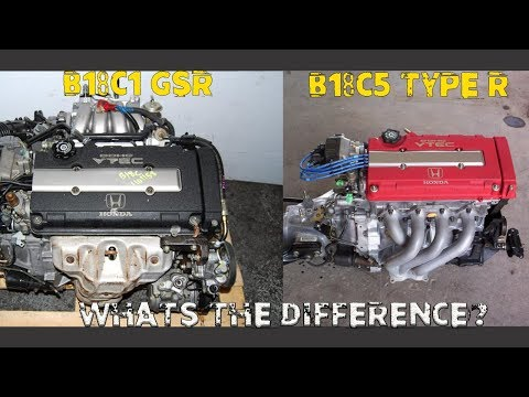 The Difference Between: B18C1 (GSR) VS B18C5 (TYPE R)