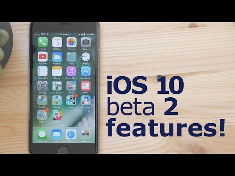 Video Walkthrough of New Features and Changes in iOS 10 Beta 2