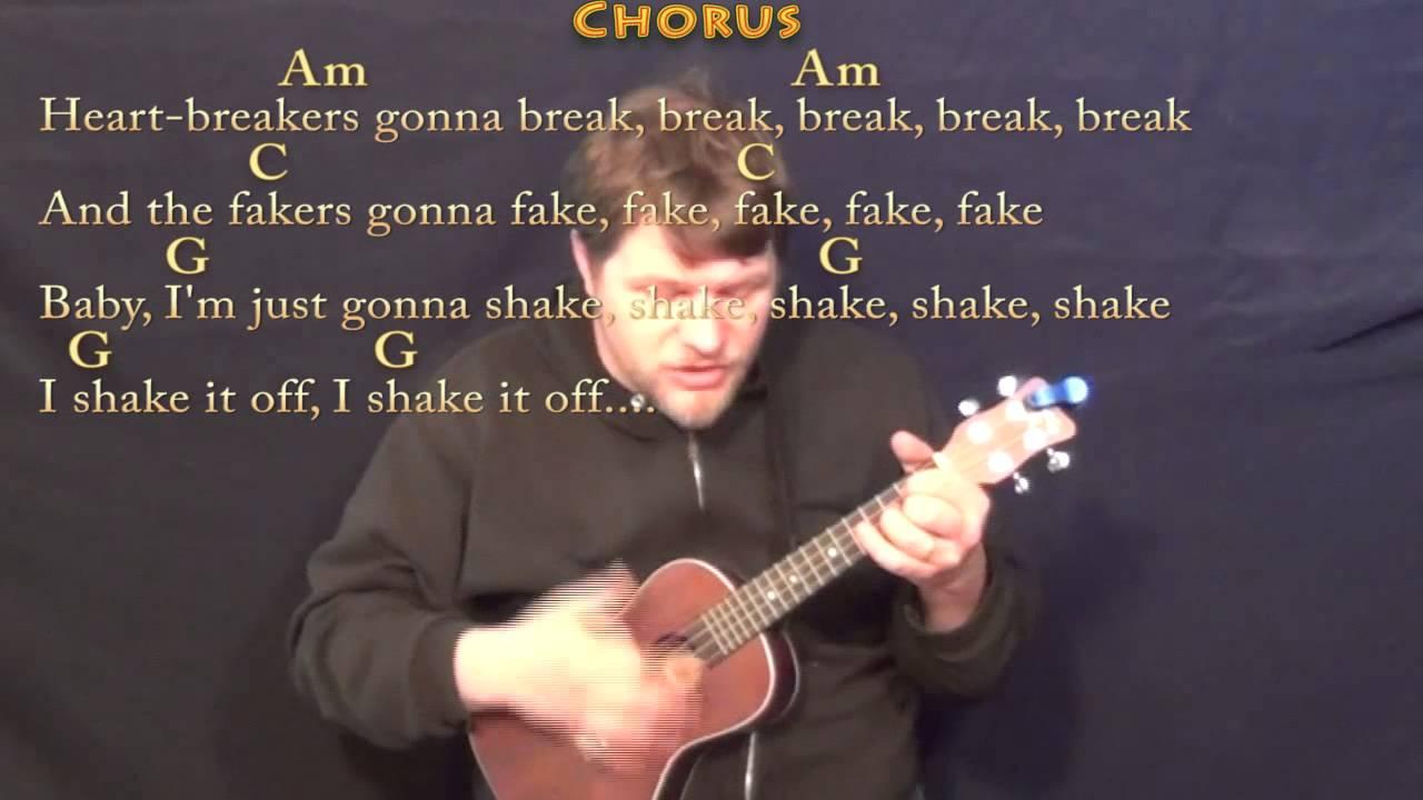 Shake It Off Taylor Swift Ukulele Cover Lesson with Chords/Lyrics