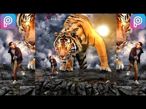 Big Tiger- Picsart Manipulation Tutorial ||LIKE ULTIMATE EDITING||