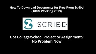 Gambar cover How to Download From Scribd for Free - Without Membership 2019 #scribd