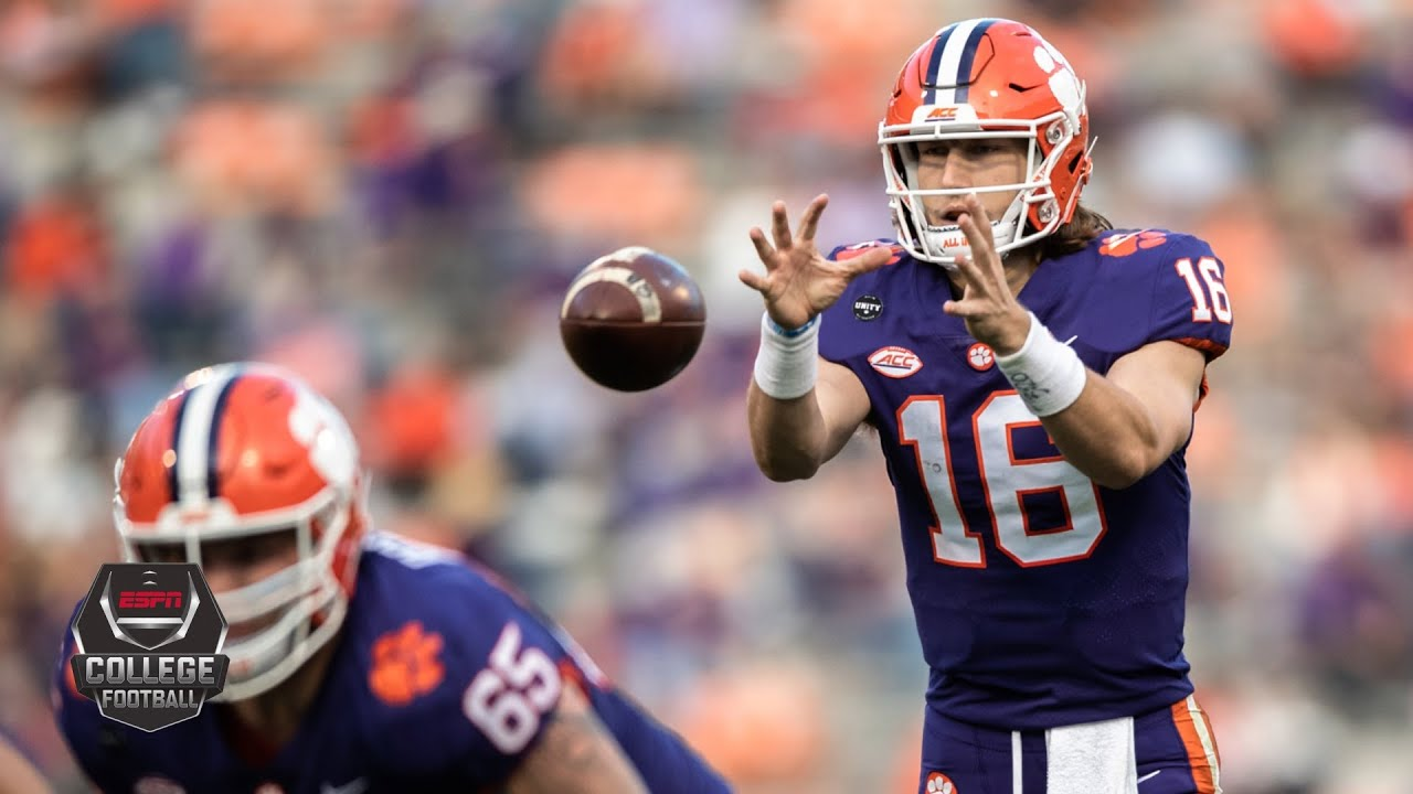 Trevor Lawrence Throws For 403 Yards In Clemson Return 2020 College Football Highlights Youtube
