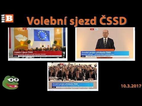 Střípky ze zahájení volebního sjezdu ČSSD v Brně 10.3.2017