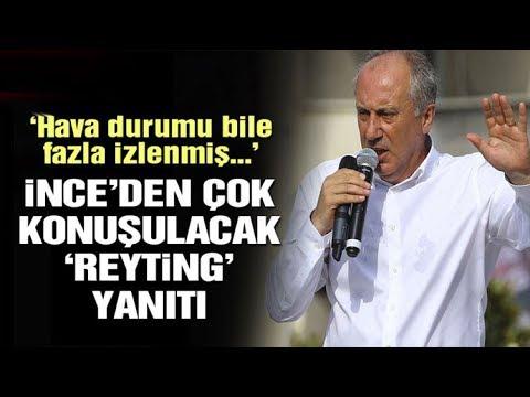 Muharrem İnce'den Erdoğan'a çok konuşulacak reyting yanıtı: Benimle TV'ye çık da havan olsun